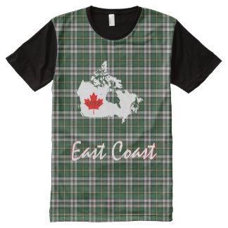 Kapbretonischer Tartan fertigen Liebe Ostküste T-Shirt Mit Komplett Bedruckbarer Vorderseite