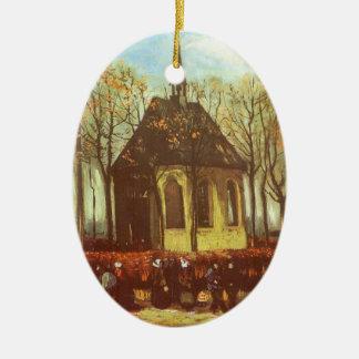 Kapelle bei Nuenen, Kirchgängern durch Vincent van Keramik Ornament