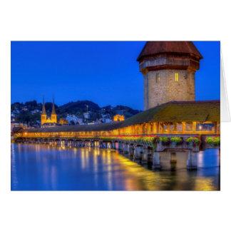 Kapellenbrücke, Kapellbrucke, Luzerne, die Schweiz Karte