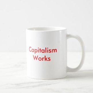 Kapitalismus-Arbeiten Kaffeetasse