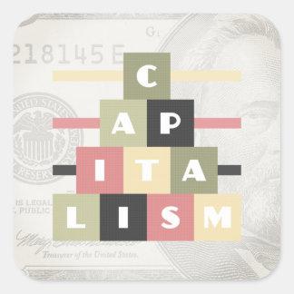 Kapitalismus Quadratischer Aufkleber