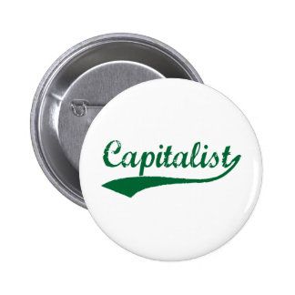 Kapitalist Runder Button 5,7 Cm
