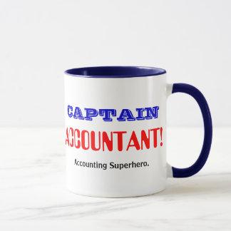 Kapitän Accountant Accounting Superhero Tasse