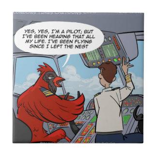 Kapitän Byrd Flies A Jumbo-jet lustig Keramikfliese