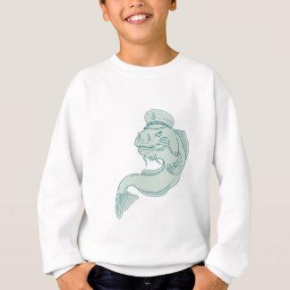 Kapitän Catfish Drawing Sweatshirt