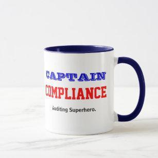 Kapitän Compliance Auditing Superhero Tasse