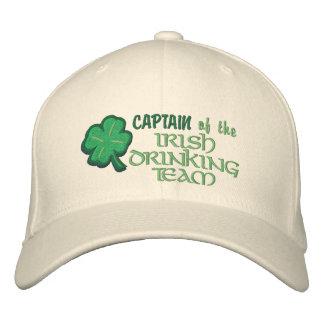 Kapitän des irischen trinkenden Teams lustig Bestickte Baseballkappe