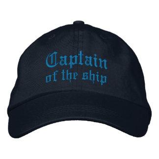Kapitän des Schiffs Bestickte Mütze