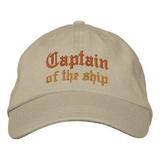 Kapitän des Schiffs Bestickte Baseballkappen