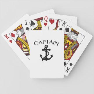 Kapitän des Seesegeln-Bootfahrt-Kreuzens cool Spielkarten