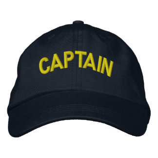 Kapitän eines Bootes oder des sportlichen Teams Besticktes Baseballcap