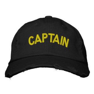 Kapitän eines Bootes oder des sportlichen Teams Bestickte Mütze