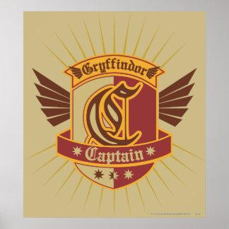 Kapitän Emble Harry Potter-  Gryffindor QUIDDITCH� Poster