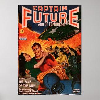 Kapitän Future -- Das Gesicht vom tiefen Poster