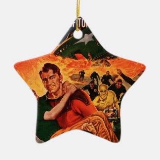 Kapitän Future und der Vulkan Keramik Stern-Ornament