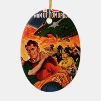 Kapitän Future und der Vulkan Ovales Keramik Ornament