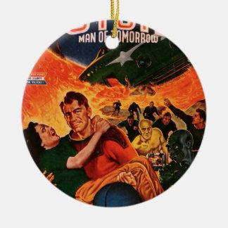 Kapitän Future und der Vulkan Rundes Keramik Ornament