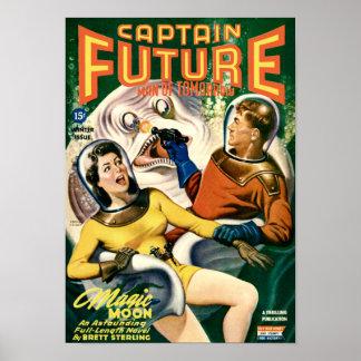 Kapitän Future und der weiße klebrige Klecks Poster