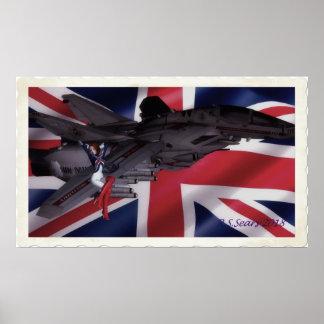 Kapitän Großbritannien Pinup Poster