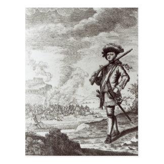 Kapitän Henry Morgan am Sack Postkarte