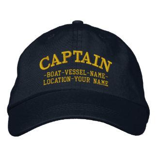 KAPITÄN kundengerecht Ihr Boot Ihr Name Besticktes Baseballcap