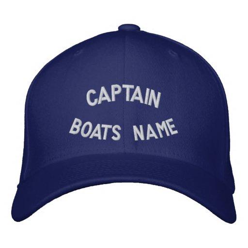 Kapitän mit Ihrem Bootsnamen Bestickte Baseballmützen