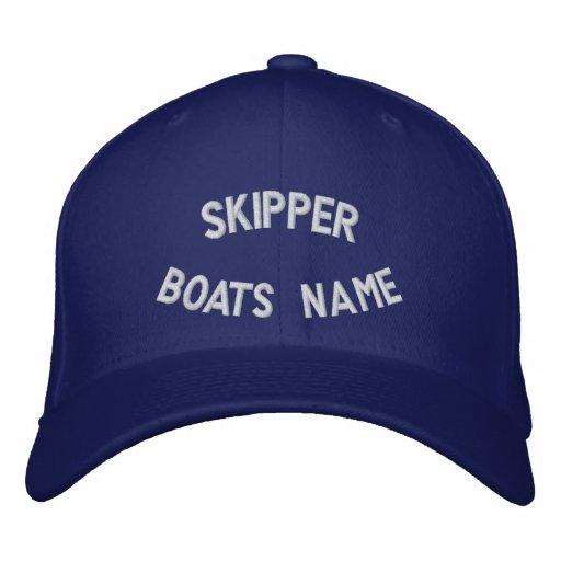 Kapitän mit Ihrem Bootsnamen Bestickte Baseballkappe