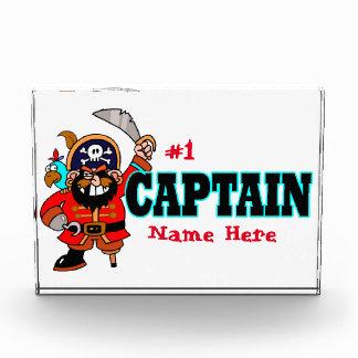 Kapitän-Piraten-Preis personalisiertes #1 Acryl Auszeichnung