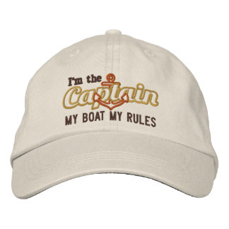Kapitän sagt mein Boot meine Regeln Bestickte Baseballkappe