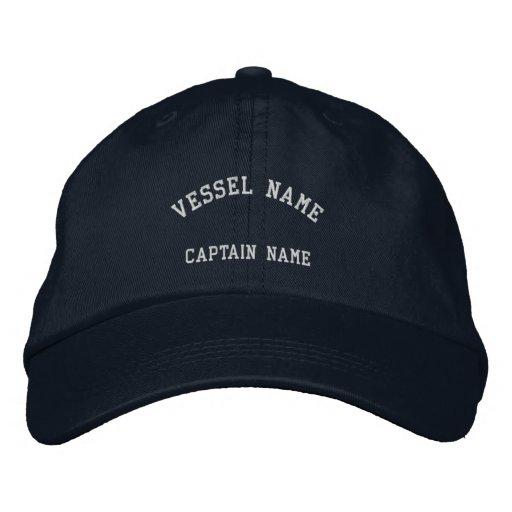 Kapitän-Schiff gestickte Kappen-Marine Bestickte Mützen
