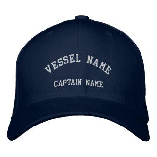 Kapitän-Schiff gestickte Wolle-Kappen-Marine Bestickte Baseballmütze