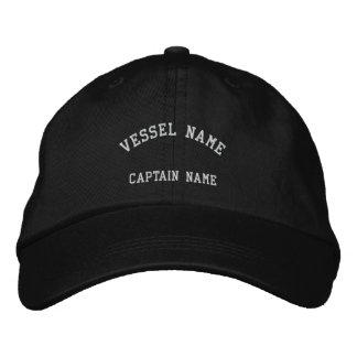 Kapitän-Schiff gesticktes Kappen-Schwarzes Besticktes Cap