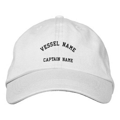 Kapitän-Schiff gesticktes Kappen-Weiß Bestickte Kappe