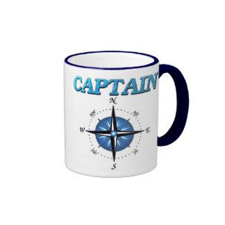 Kapitän-und Kompass-Rose Ringer Tasse