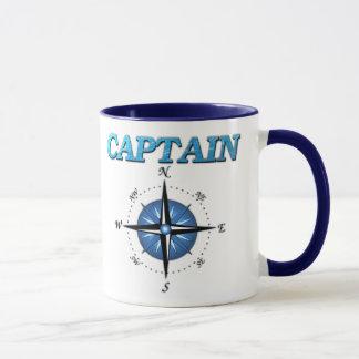 Kapitän-und Kompass-Rose Tasse