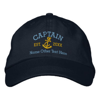 Kapitän With Anchor Personalized Bestickte Baseballcaps