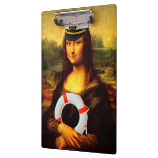 Kapitän zur See Mona Lisa Klemmbrett