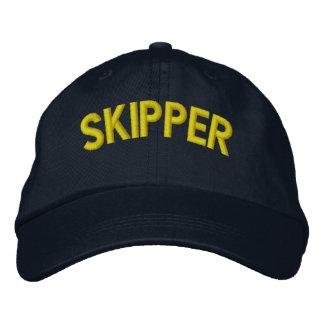 Kapitäntext für Segeln oder Sportteams Baseballmütze