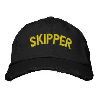Kapitäntext für Segeln oder Sportteams Bestickte Baseballcaps