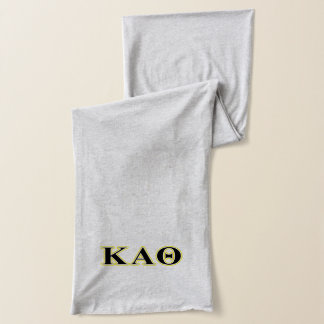 Kappa-Alpha Theta-Gelb und gotische Schriften Schal