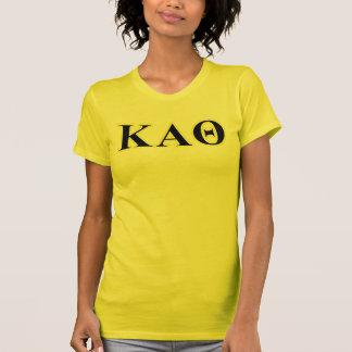 Kappa-Alpha Theta-Gelb und gotische Schriften T-Shirt