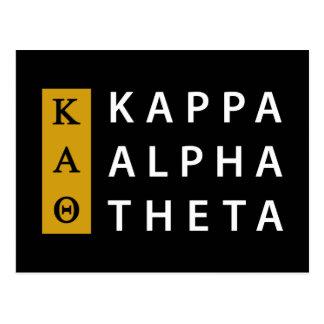 Kappa-Alpha Theta-| Staplungslogo Postkarte