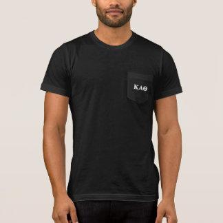 Kappa-Alpha Theta-Weiß und gotische Schriften T-Shirt