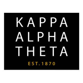 Kappa-Alphatheta | Est. 1870 Postkarte