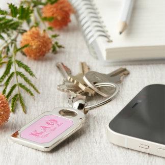 Kappa-Alphatheta-Rosa-Buchstaben Schlüsselanhänger