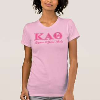 Kappa-Alphatheta-Rosa-Buchstaben T-Shirt