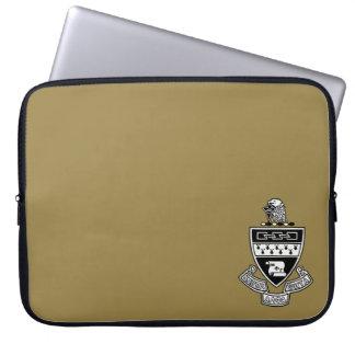 Kappa-Alphatheta-Wappen: Schwarzweiss Laptop Sleeve