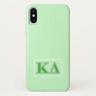 Kappa-Deltagrün-Buchstaben iPhone X Hülle