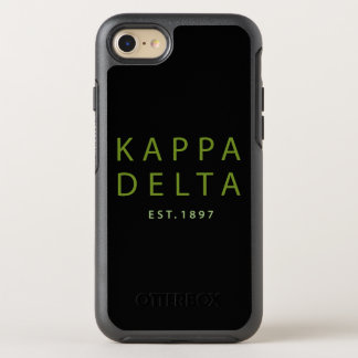 Kappa-Deltamoderne Art OtterBox Symmetry iPhone 8/7 Hülle