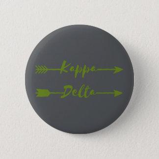 Kappa-Deltapfeil Runder Button 5,7 Cm